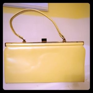Andrew Geller Vintage leather yellow bag